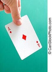 Ace diamonds - Holding Ace diamonds