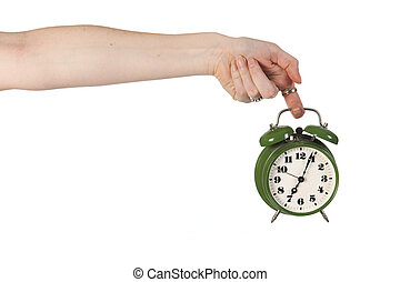 Holding alarm clock