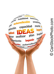 Holding an Ideas Sphere (In Spanish)