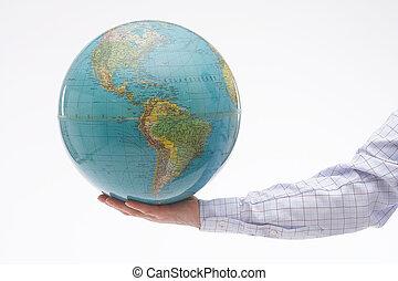 Holding - Arm with the world in the hand - Arm mit einem...