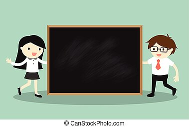 Holding blackboard for presentation