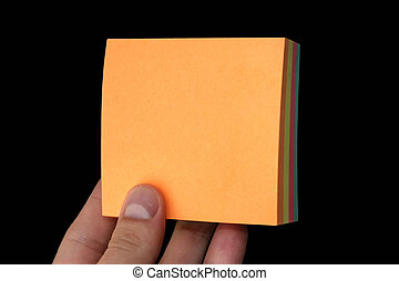holding blank paper