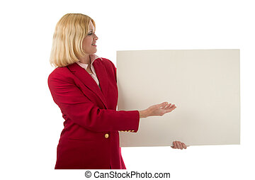 Holding Blank Sign 2
