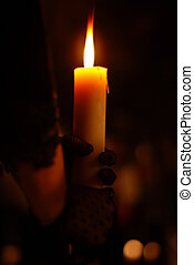 Holding Candle