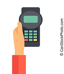 Holding credit card machine