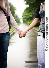 Holding hands concept