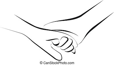 Holding hands  - couple holding hands
