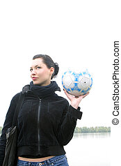 holding in the hand ball