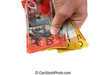Holding money - Australian money