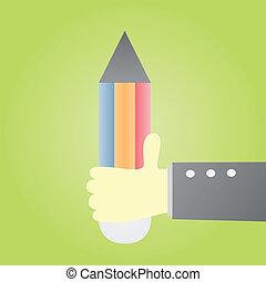 holding pensil