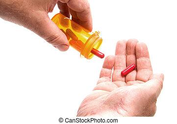 Holding Prescription Medication