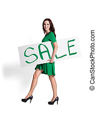 Holding Sale Sign