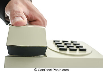 Holding telephone receiver