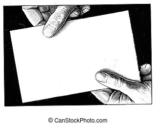 Hands Holding piece of paper