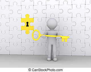 Holding the key to the solution