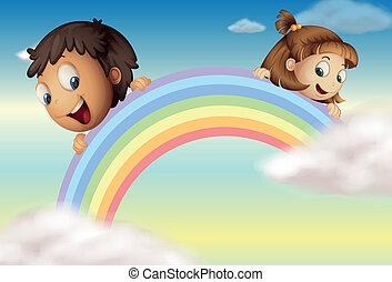 Holding the rainbow