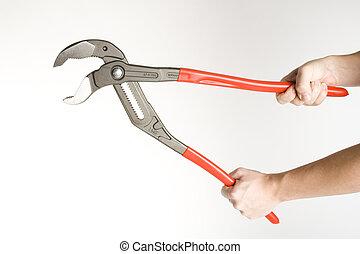 holdingen, a, verktyg