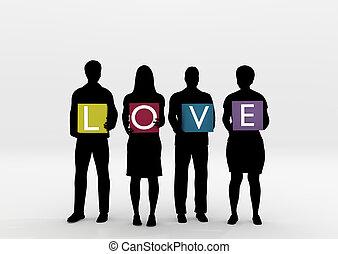 holdingen, kärlek
