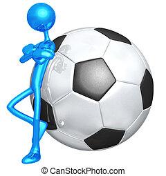 holdning, fodbold soccer