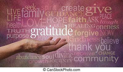 holdning, taknemmelighed