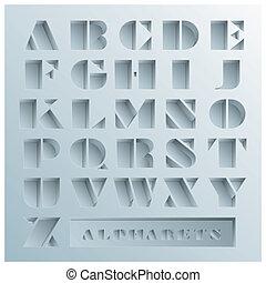 Hole Alphabets Font Style