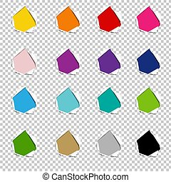 Hole Collection Torn Paper Isolated Transparent background