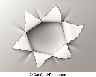 hole in steel plate