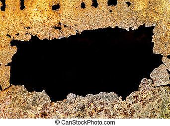 Hole in the Rusty Metal