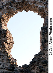 hole in the wall facing the sky