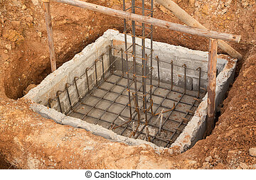 hole of pole in construction site building