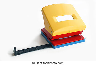 Hole puncher on a bright background