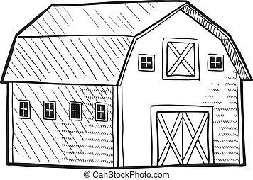 holenderski, stodoła, rys