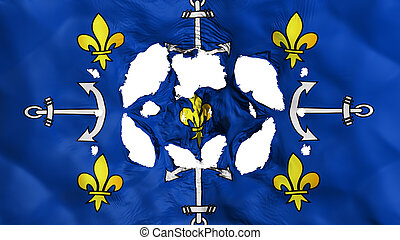 Holes in Port Louis city flag - Holes in Port Louis city, ...