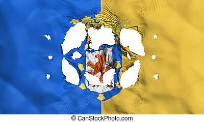 Holes in Santiago city flag - Holes in Santiago city,...