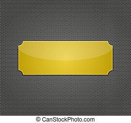 holes., vector, metaal, achtergrond, illustratie