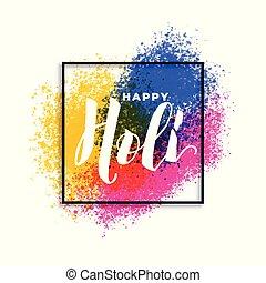 holi, 祝祭, スプラッター, 色, 背景, 幸せ