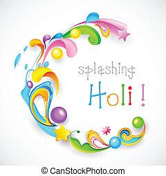 Holi Background - illustration of colorful color splash and...