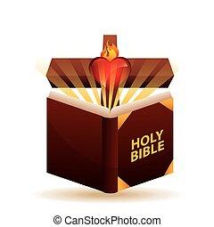 holi bible - holy bible design, vector illustration eps10...