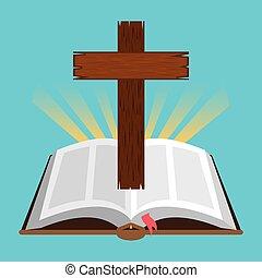 holi bible - holy bible design, vector illustration eps10 ...