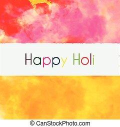 holi, coloré, fond, heureux