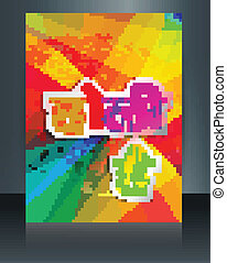 Holi colorful texture festival brochure template background vector