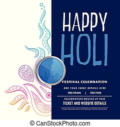 holi, décoration, fond, fête, heureux, célébration