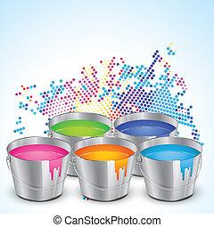 holi festival - beautiful colorful illustration of indian...