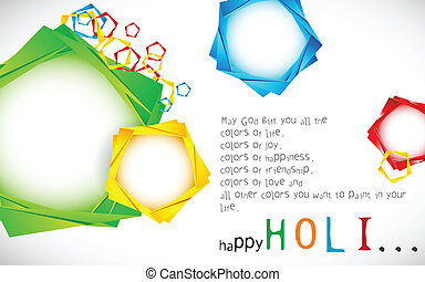 Holi Wallpaper - illustration of origami chat bubble in...