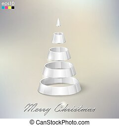 holiday abstract silver Christmas tree
