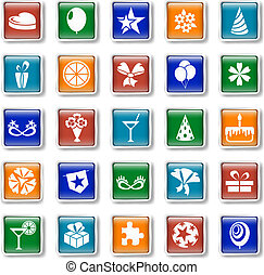 Holiday and party icons