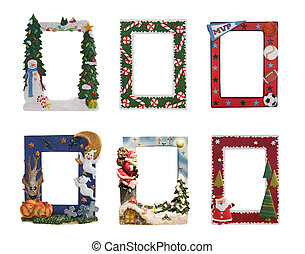 Holiday and Sports Themed Picture Frames - Christmas, ...