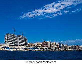 Holiday Apartments at Sliema, along the coast of malta.