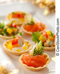 Holiday Appetizers - Christmas starter platter with ...
