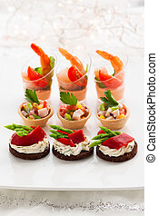 Appetizers - Holiday Appetizers on the platter
